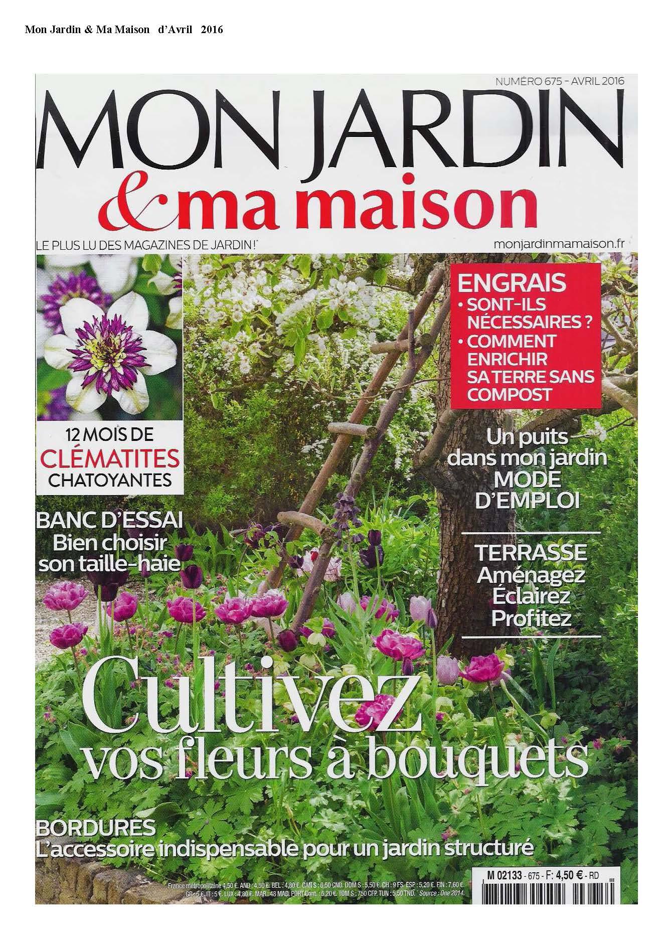 PIB en el periódico Mon jardin & ma maison Abril 2016