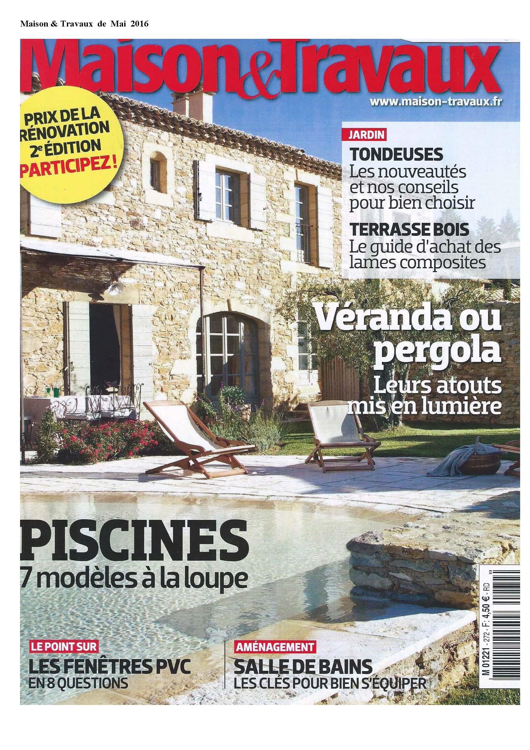 PIB en el periódico Maison & Travaux Mayo 2016