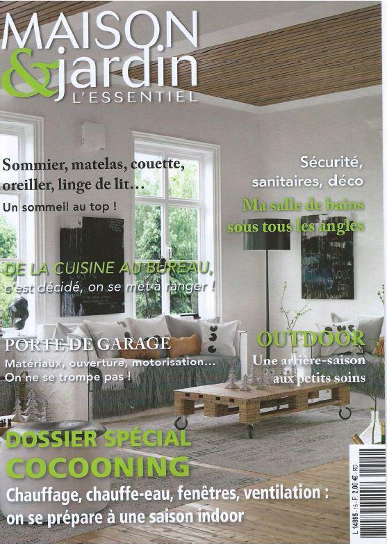Maison & jardins l'essentiel noviembre 2015