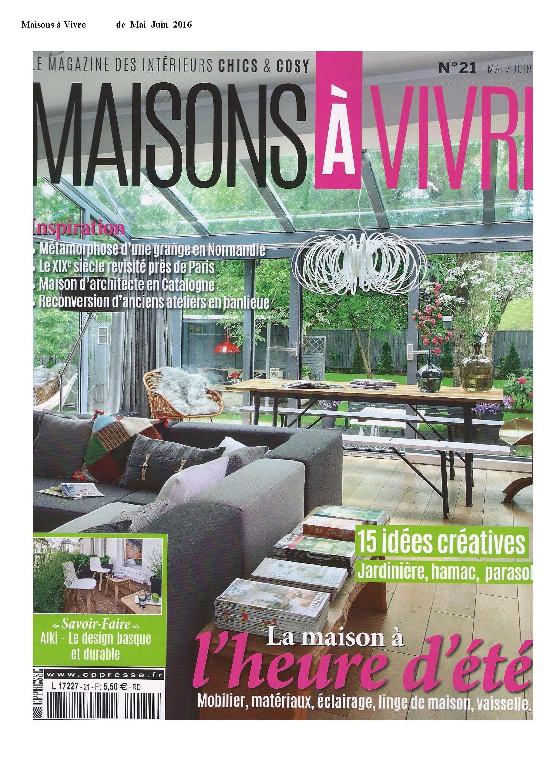 PIB en Maison à vivre mayo-junio 2016