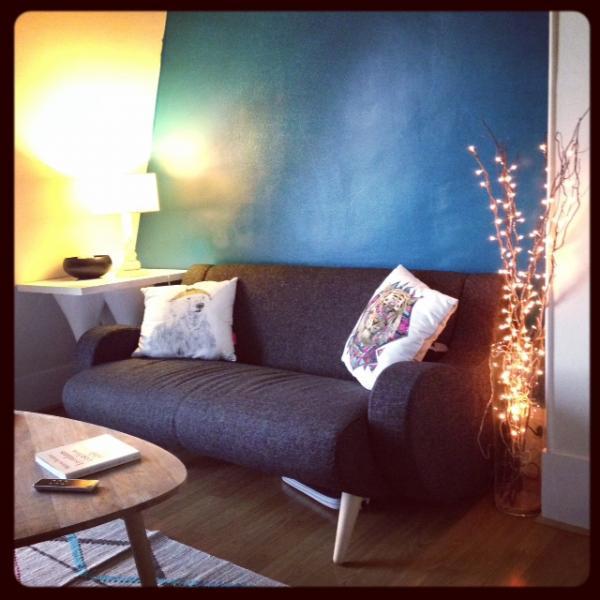 Acabo de instalar el sofá negro de Ginebra! Cómodo y muy agradable! Mis amigos están celosos.