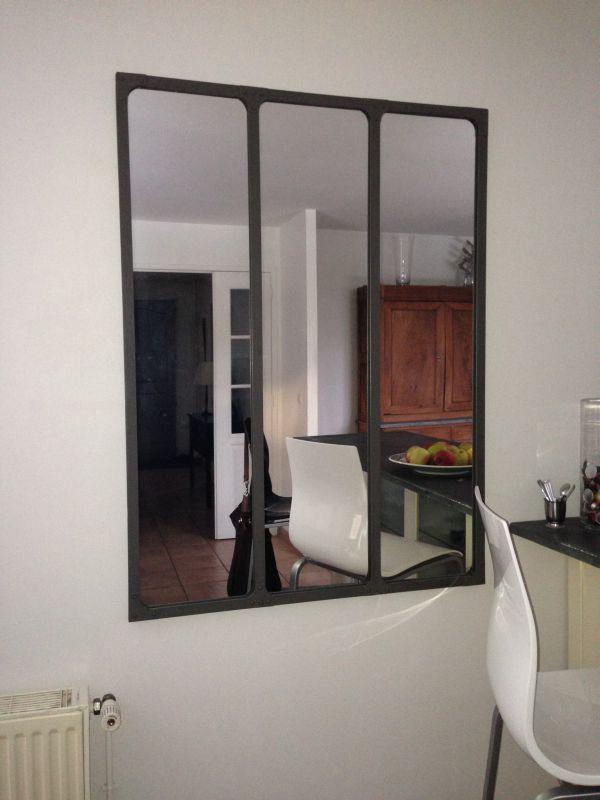 espejo de taller con marco met lico pib