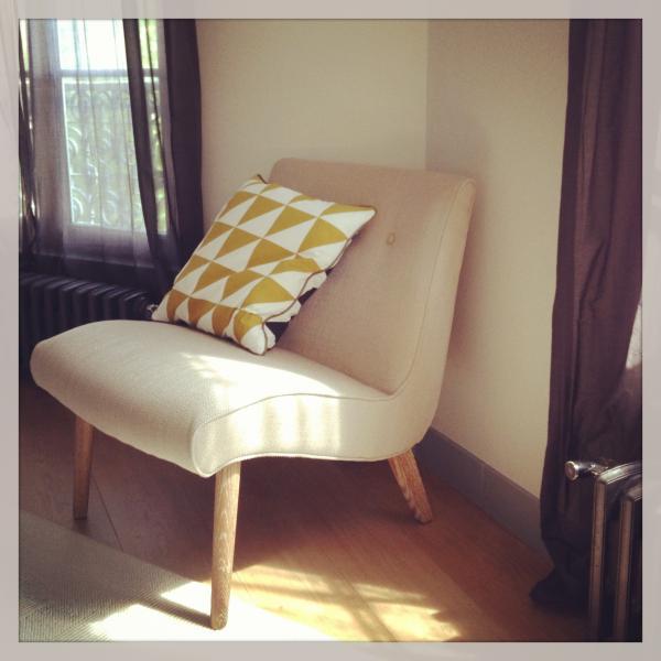 Nos encanta nuestra silla Northern Vintage (junto con el cojín Curry Noruega por supuesto!).