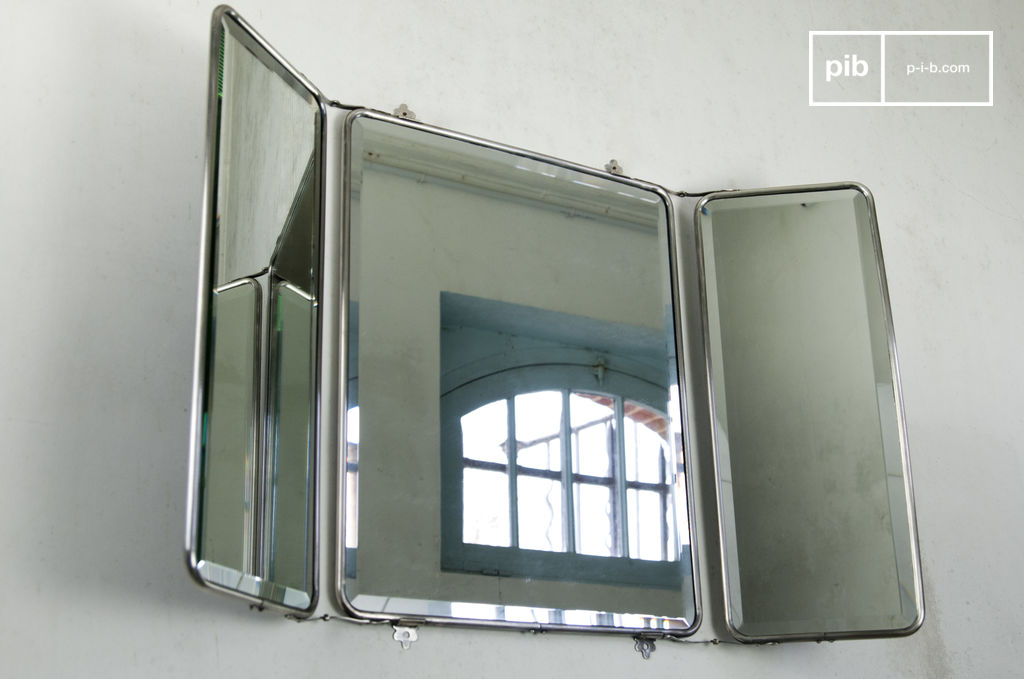 Espejo de pared estilo tr ptico cobre plateado pib for Espejo largo pared