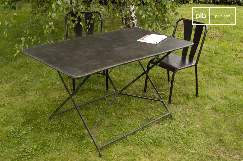 Mesa de jard n compi gne mesa de metal plegable pib - Mesa plegable jardin carrefour ...