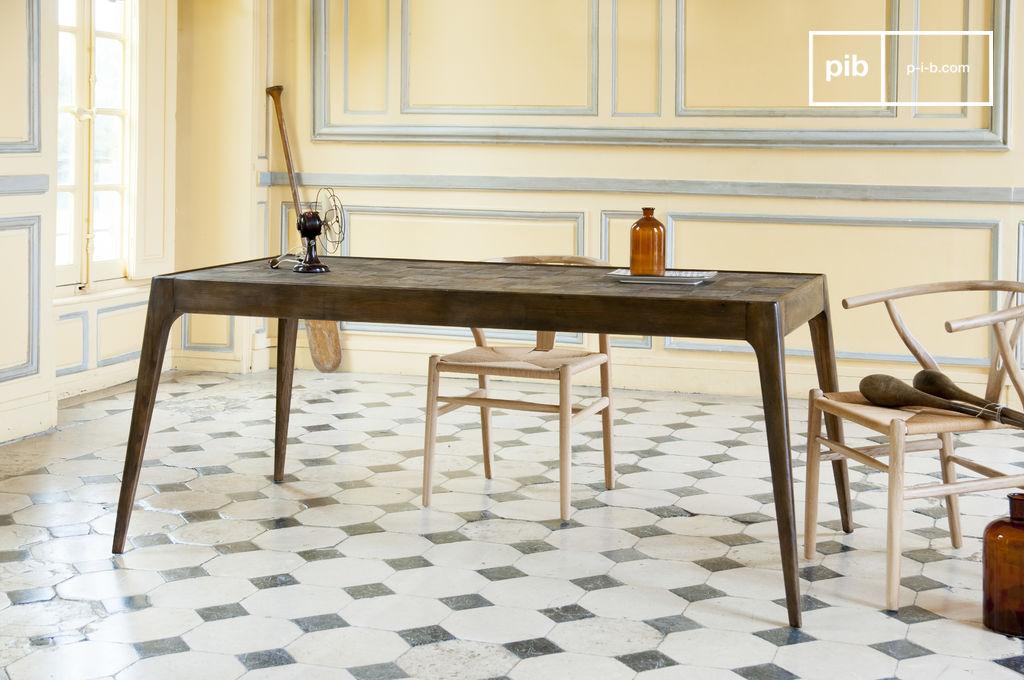 Mesa de madera tab to mosaico una obra de arte pib for Mesas comedor escandinavas