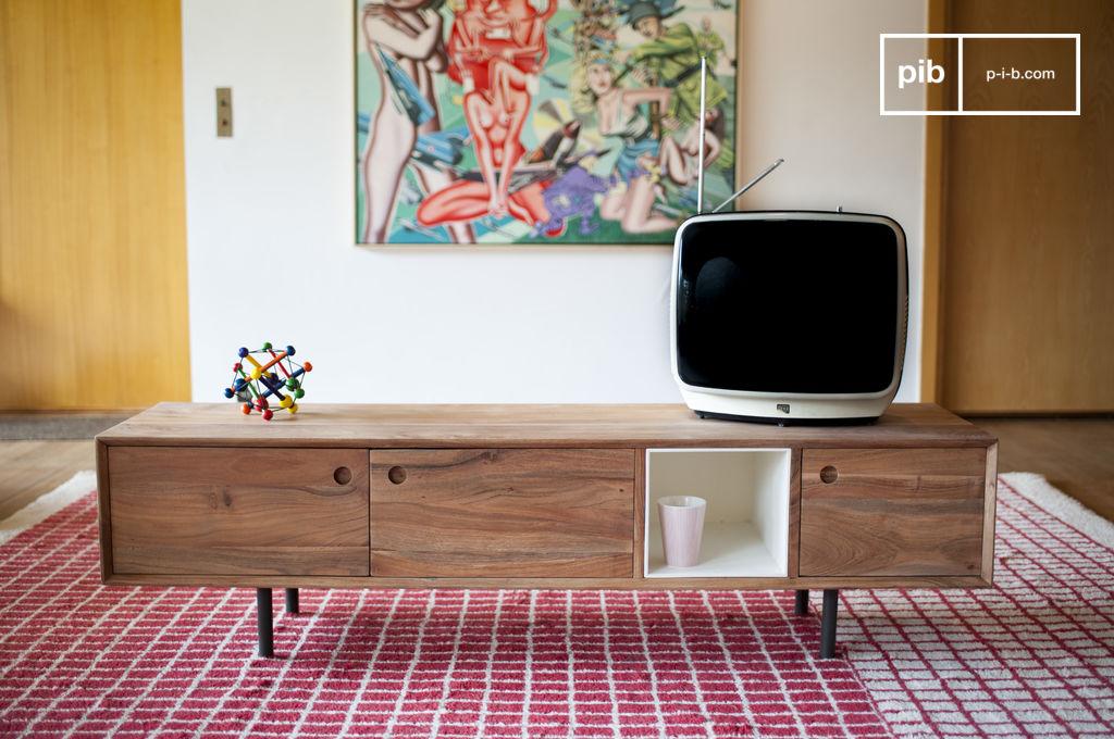 Mueble tv vintage bascole sofisticado marco de metal pib for Mueble tv vintage