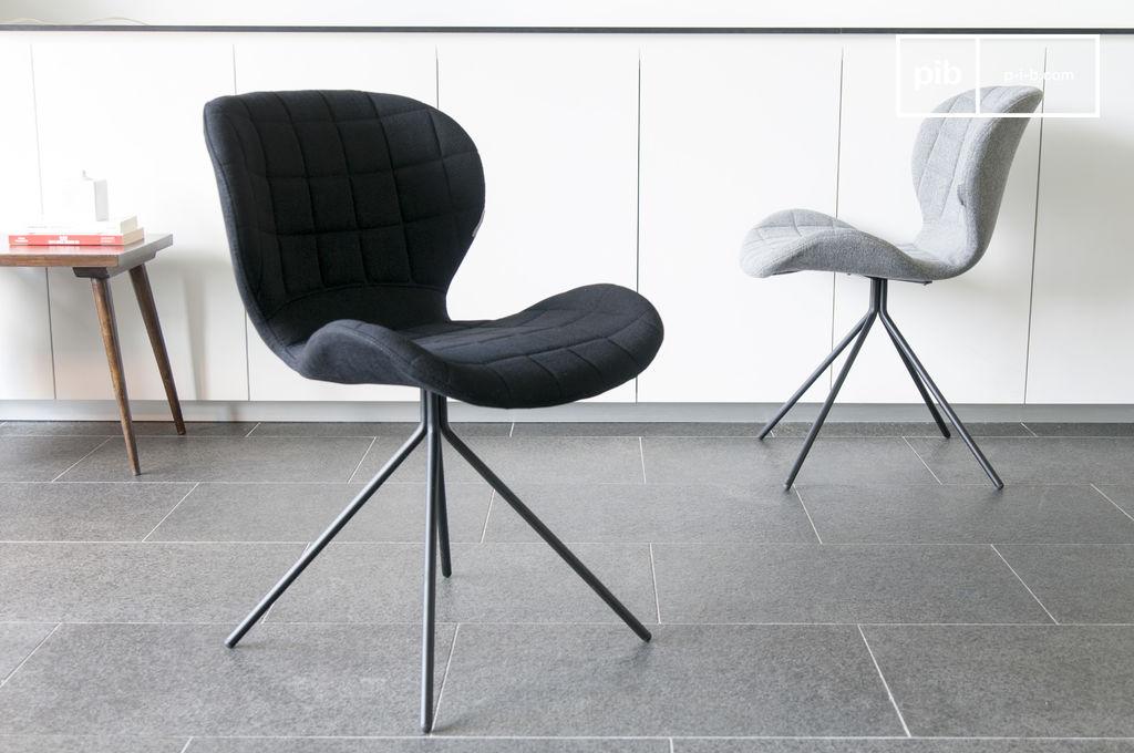 Silla negra hetsik disponible en varios colores pib for Sillas negras modernas