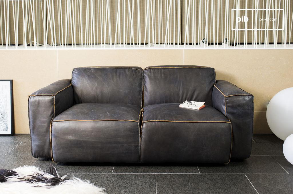 Sof atsullivan un sof escandinavo de cuero con estilo - Sofa con estilo ...