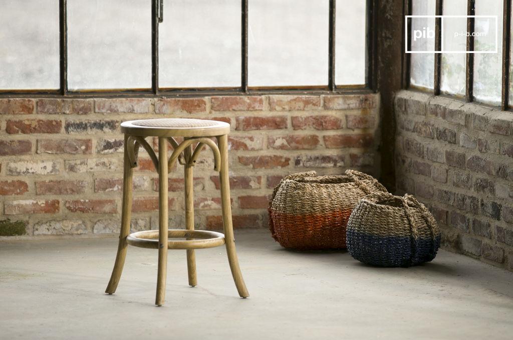taburete pampelune con acabado natural madera de olmo pib. Black Bedroom Furniture Sets. Home Design Ideas