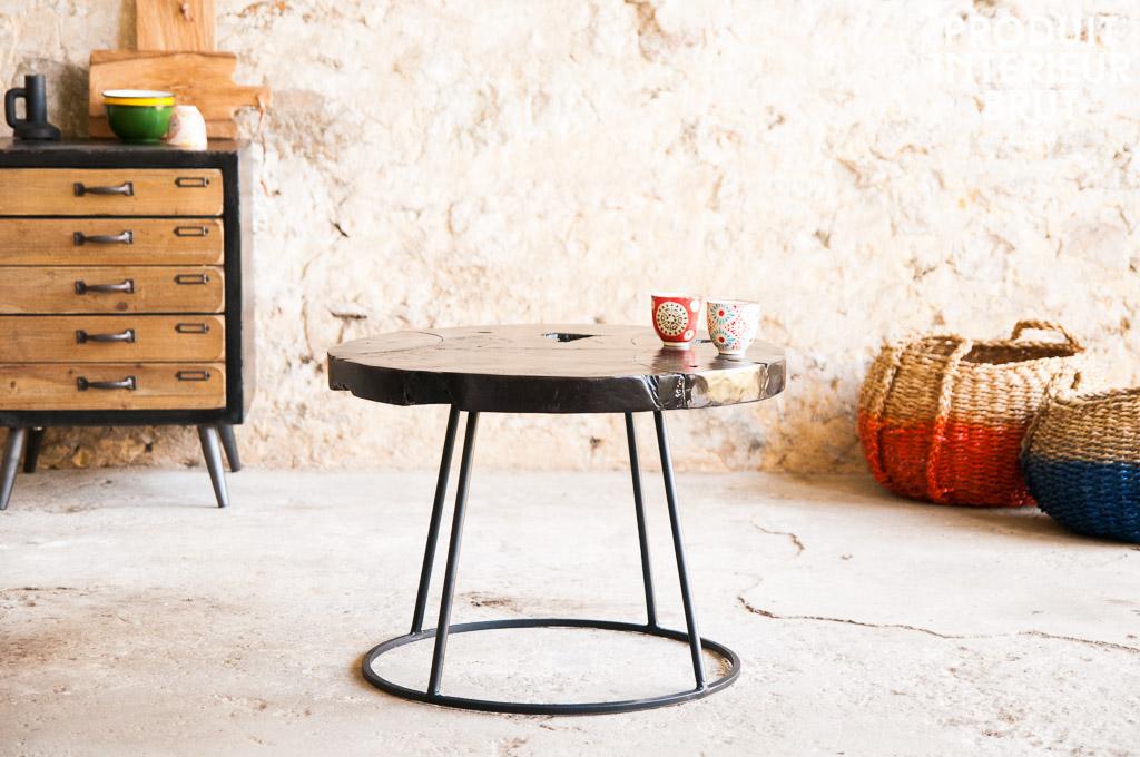 Mesa de centro mina mesa vintage oscura con todo el Mesas industriales vintage