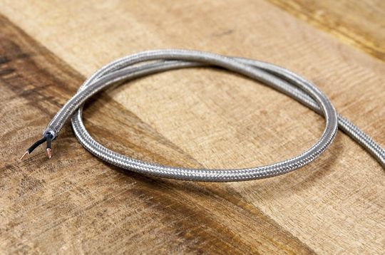 1m de cable trenzado metálico
