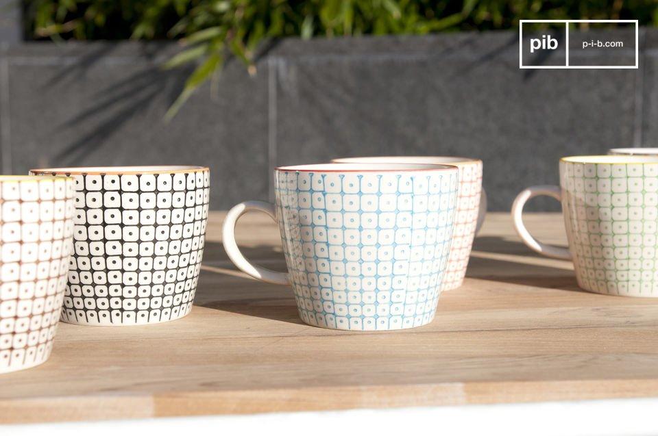 6 tazas de porcelana Brüni