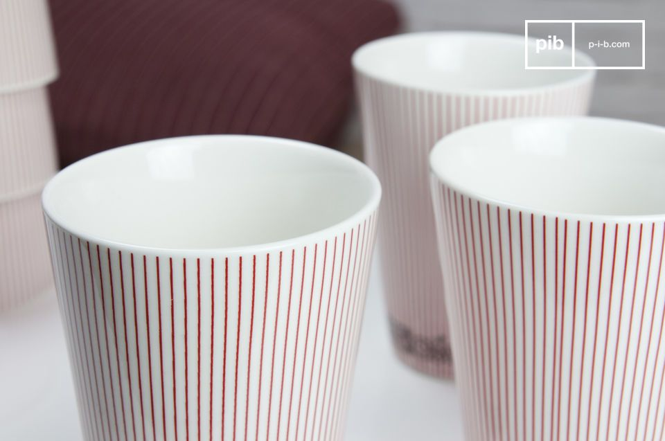 Tazas de porcelana con un hermoso estilo nórdico