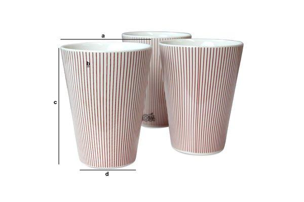 Dimensiones del producto 6 tazas Teli
