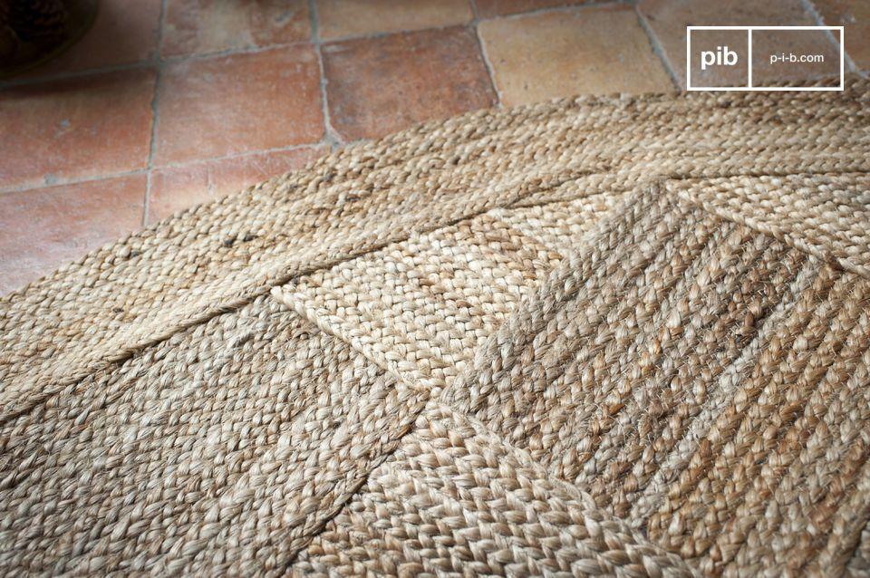Gran formato con espíritu escandinavo de fibra de yute 100% natural