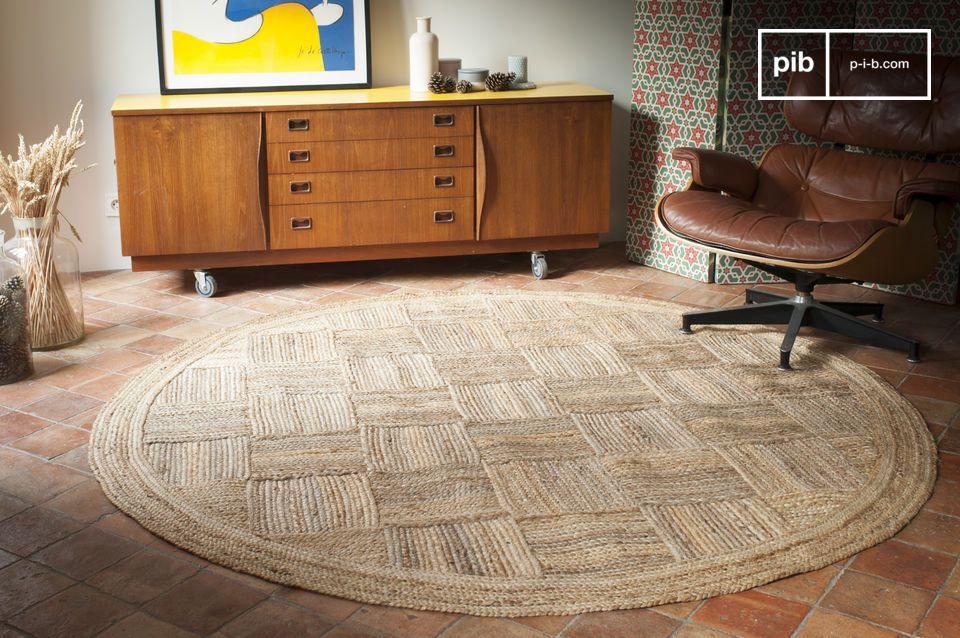 Con un estilo muy natural, la alfombra Williams está hecha de yute trenzado