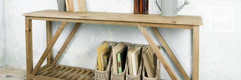 Antigua colección de consolas de madera shabby chic
