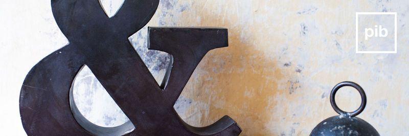 Antigua colección de letras decorativas de madera shabby chic