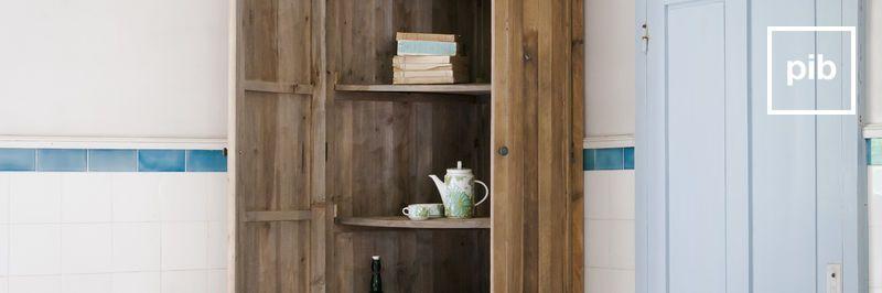 Antigua colección de librerías de madera shabby chic