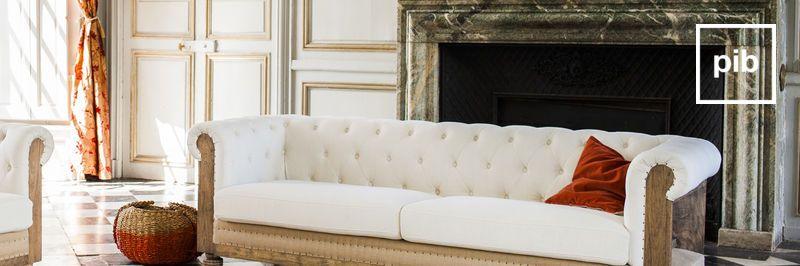 Antigua colección de sofás comodos shabby chic