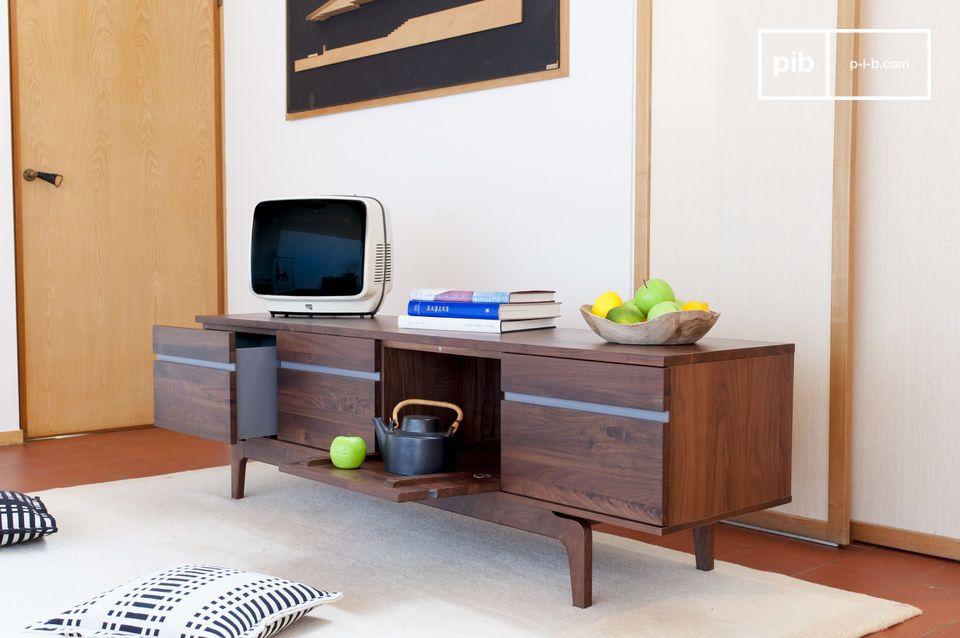 Elegante espacio para acoger el televisor o la vajilla