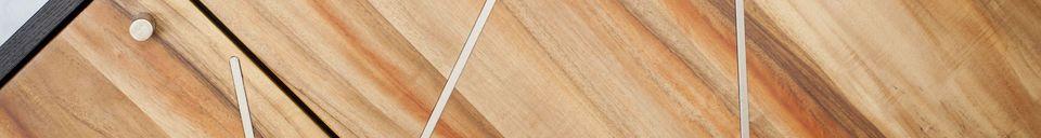 Descriptivo Materiales  Aparador de madera Linéa