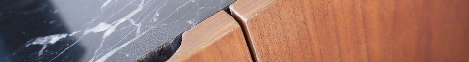 Descriptivo Materiales  Aparador de madera y mármol Lovisa