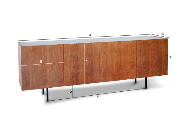 Dimensiones del producto Aparador de madera y mármol Lovisa
