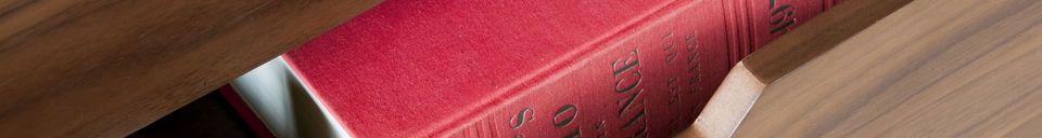 Descriptivo Materiales  Aparador de nogal Hinda