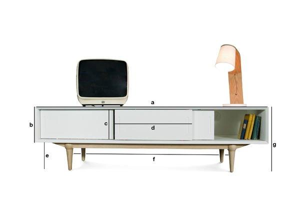 Dimensiones del producto Aparador de TV Fjord