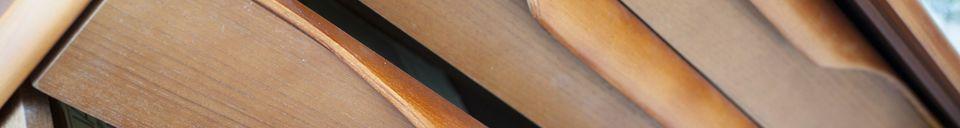 Descriptivo Materiales  Aparador escandinavo de madera Alrik