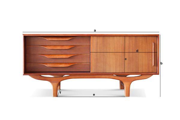 Dimensiones del producto Aparador escandinavo de madera Alrik