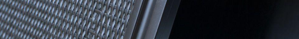 Descriptivo Materiales  Aparador negro grande Hevaya