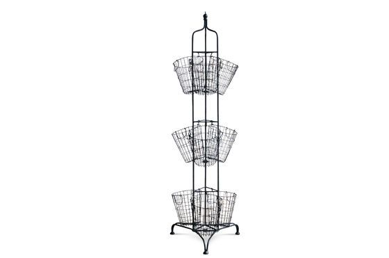Apoyo vertical con 9 cestas metálicas Clipped