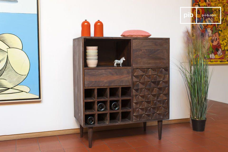 Estas comodas de madera maciza estilo retro escandinavo está hecho completamente de madera fina