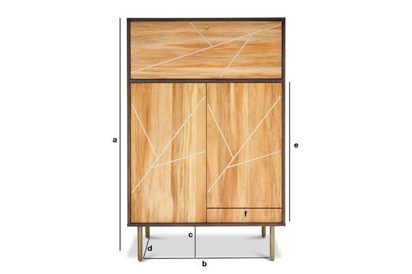 Dimensiones del producto Armario de madera Linéa