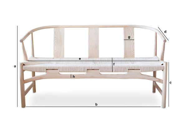 Dimensiones del producto Banco de madera Mäntta