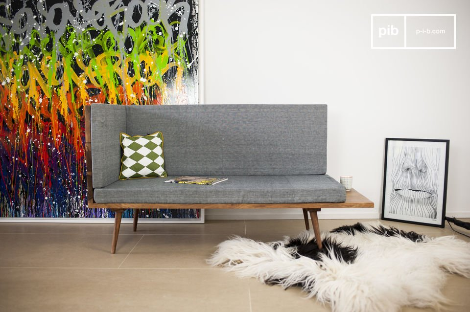 El banco Sensilä es un mueble que se sumará a la decoración escandinava vintage de su sala de