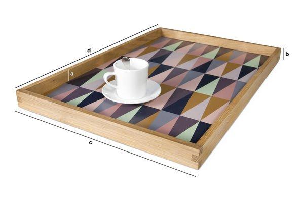 Dimensiones del producto Bandeja con gráficos coloridos