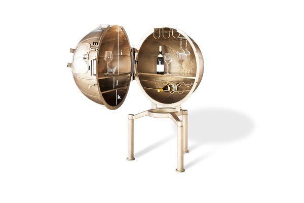 Dimensiones del producto Bar Globo Julio Verne