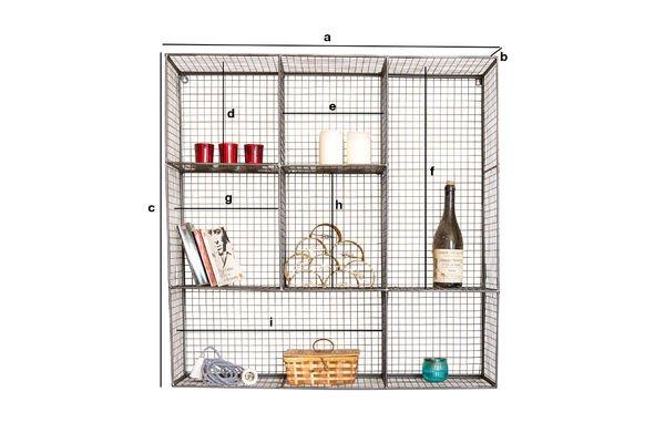 Dimensiones del producto Biblioteca de pared Harlem