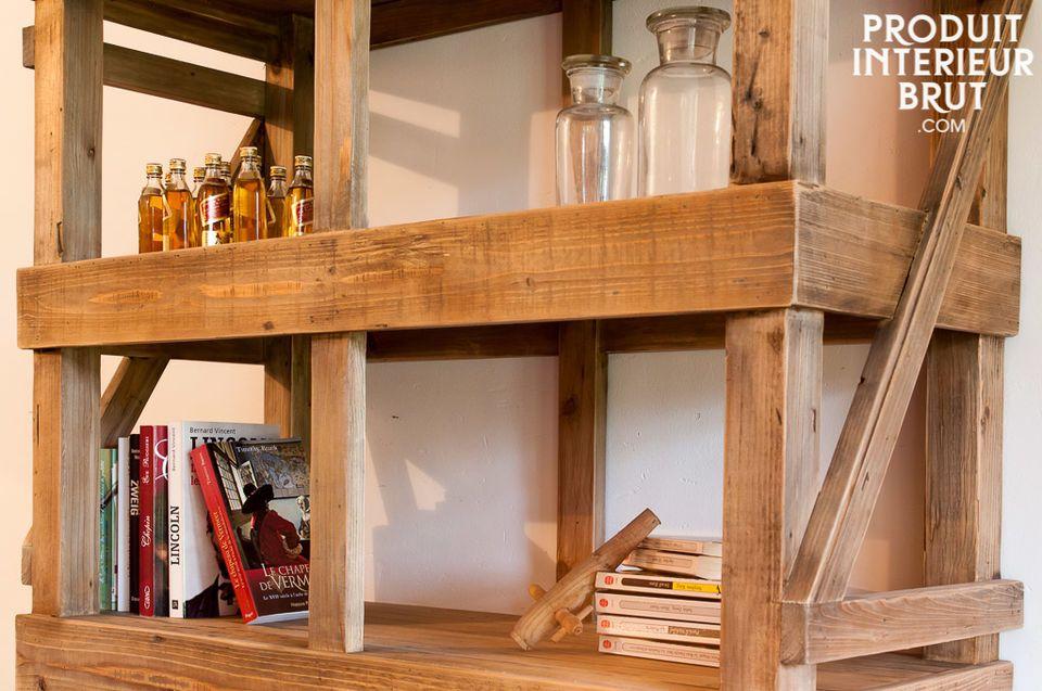 Mueble de madera estilo taller