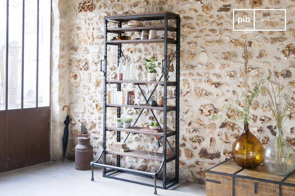 Un gran espacio de almacenamiento y un toque industrial y elegante para una oficina o salón