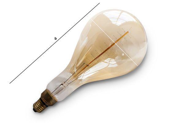 Dimensiones del producto Bombilla gigante con filamento largo