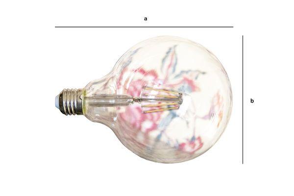 Dimensiones del producto Bombilla LED 13cm with filamento
