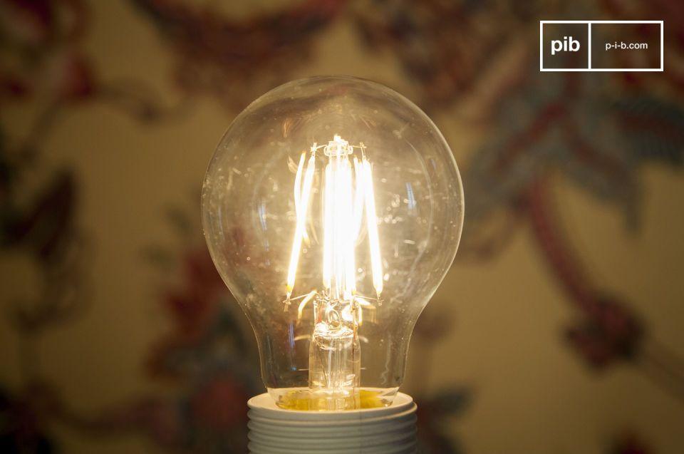 Estilo vintage, larga vida, ahorro de energía