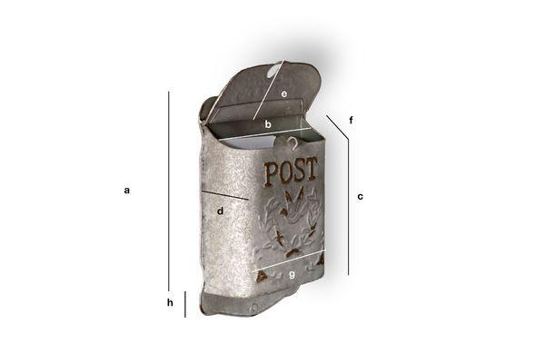 Dimensiones del producto Buzón Post