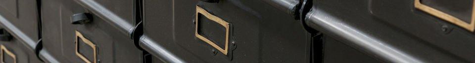 Descriptivo Materiales  Cajonera de taller con 16 cajones