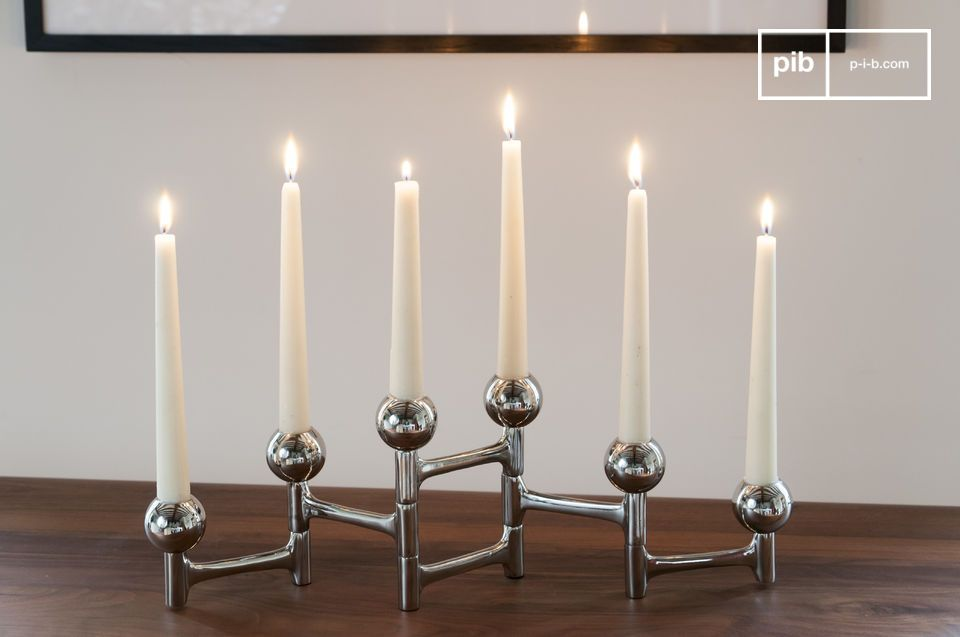 Un accesorio elegante y versátil para seis velas